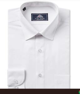 "RealBrook LargeMens Longsleeve black/white shirts 18 ""18.5 19 20 21 22 23 coller"