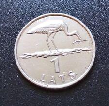 LATVIA LETTLAND , LETTONIA 2001 year coin 1 LATS STORK RARE
