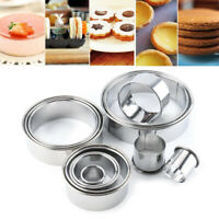 14Pcs Cookie Cutter Baking Metal Ring Molds Round Cookie Biscuit Cutter DIY Set