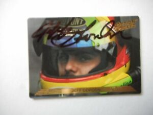 Jeff Gordon signed 1993 AP #24 DUPONT Chevy ROOKIE Winston Cup Card #24 W/COA