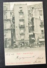 CARTOLINA NAPOLI VICOLI DI S. LUCIA RARA VIAGGIATA 1903 SUBALPINA ZZ