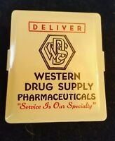 Vintage Metal Advertising Paper Clip Western Drug Supply Pharmaceuticals