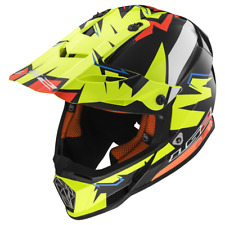 Casco Fuoristrada Ls2 Mx437 Fast Volt Black Yellow Orange XXL