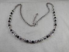 "Brighton Swarovski  & Onyx Beaded Necklace 24"""
