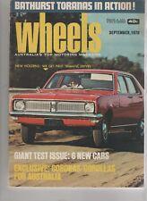 Wheels 1970 Sep Holden Torana GTR XU-1 VW type 3 HG trimatic Mercedes-Benz 280 R