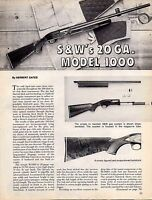 1977 SMITH & WESSON S&W's 20 ga. Model 1000 Evaluation Article