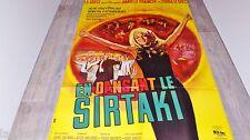 EN DANSANT LE SIRTAKI !  affiche cinema musique grece 1967 mascii