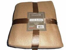 Soft and Warm Double Throw 150x200cm Plain Fleece (Latte)