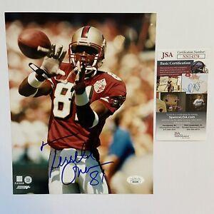 Terrell Owens Signed 8x10 Photo Autograph JSA COA San Francisco 49ers Cowboys