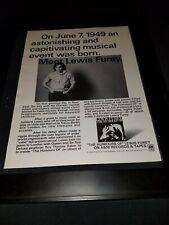 Lewis Furey The Humors Of Rare Original Promo Poster Ad Framed!
