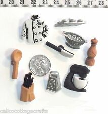 Novelty Buttons Master Chef Cook Kitchen Rules Embellishments Quilting Sew  #237