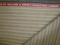 "4 yd HOLLAND SHERRY Wool Fabric Target 9 oz Super 120s Suiting 144""Taupe BTP"