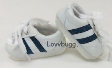 Navy Stripes Tennis for 18 inch Doll Shoes American Girl n Baby Doll   US Seller
