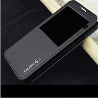 FLIP S-VIEW LEATHER CASE BATTERY HOUSING BACK COVER FOR SAMSUNG GALAXY S5 i9600