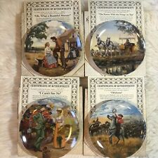Oklahoma Knowles Collector Plates Set Of 4 By Mort Kunstler Musical B