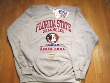 Florida State Seminoles Nokia Sugar Bowl 2003 Gray Sweatshirt Large # 15