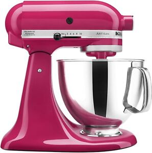 New KitchenAid KSM150PSCB 5-Qt. Stand Mixer with Pouring Shield - Cranberry