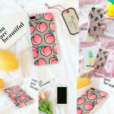 Fruit Pattern Soft TPU Clear Phone Case Cover For Apple iPhone 7 Plus 5 SE 8 6s