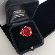 Poppy Ring Size N Goldtone Statement Flower Floral