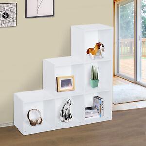 HOMCOM Storage Cabinet Closet Organiser 6 Cube 3-Tier Shelf White
