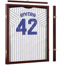 Jersey Display Frame Shadowbox Large Acrylic Memorabilia Uniform Mahogany Wood