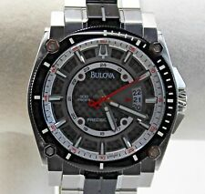 """Bulova Precisionist Men's Watch """"The World's Most Accurate Watch"""" Black CF Dial"""