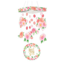 BABY SHOWER Sweet Floral HANGING DECORATION ~ Party Supplies Girl Pink Mobile