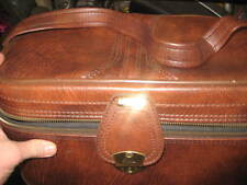 Vintage leather airway industries cosmetic beauty bag luggage w original box