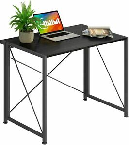 Folding Wood Computer Desk Table Compact Foldable Home Office Computer PC Laptop