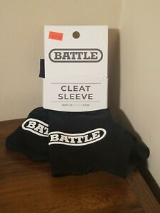 Battle Sports Cleat Sleeves - Pair - Black w/ White Logo - Brand New with Tags