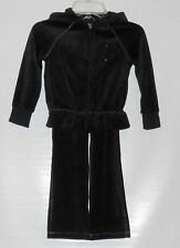 The Childrens Place Girls Two (2) Piece Velour Peace Hoodie Set Black XS/4 NWT
