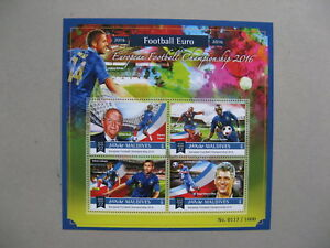MALDIVES, S/S 2015 MNH, EC 2016 soccer football
