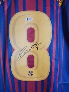 Andres Iniesta Barcelona Signed Jersey Beckett COA