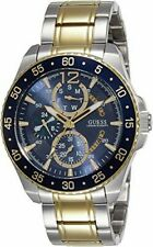 Guess W0797G1 MENS CHRONOGRAPH WATCH. 46MM NEW BATTERY MSRP $245