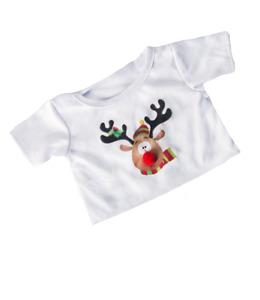 "Christmas Reindeer 16"" t-shirt Teddy Bear clothes outfit fit build a bear"