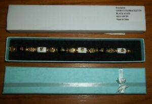 Genuine Black & White Agate Lucky Bracelet