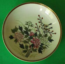 Kutani Porcelain Bowl with Chrysanthemum  Avian Decor 20th Century Japan
