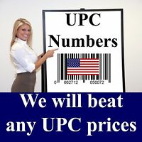 1000 UPC EAN 1,000 Barcode Numbers - READ this before buying FAKE UPC numbers