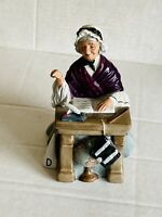"***Royal Doulton Figure ""Schoolmarm"" HN2223 Teacher Sitting at her Desk 1958***"