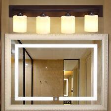 4 Light Glass Wall Sconce Light Lamp Shade Cover Fixture Vanity Bronze Bathroom