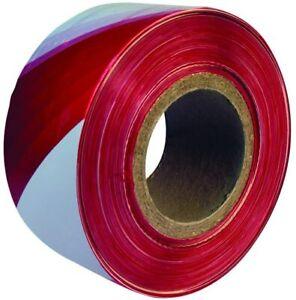 Barrier Hazard Warning Tape Non Adhesive Red&White 500m Rolls Danger