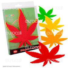 4 Sottopentola in Silicone Black Leaf Design Foglia di Canapa Sotto Pentola