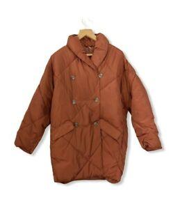 Free People Ella Long Puffer Coat Cinnamon Brown Size XS - Medium RRP £158