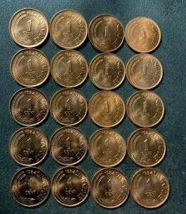 Old Singapore Coin Lot - 1984 - DEALER LOT - 20 AU/UNC RED Coins - Lot #L26
