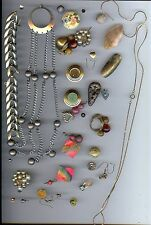 Vintage Jewelry Lot Scrap CRAFT Project Broken Pieces Beads Parts
