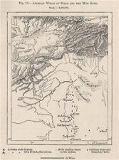 Dei Pozzi artesiani di ziban e l'Oued EL RIGH. ALGERIA 1885 Old antique map