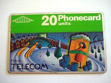 PHONECARD TELECARTE BRITISH TELECOM SCENE D'HIVER