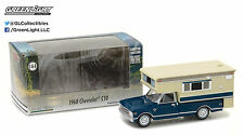 1:64 GreenLight *HOBBY EXCLUSIVE* BLUE = 1968 Chevrolet C10 w/LARGE CAMPER NIB