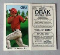 MIKE TROUT RC 2010 TRI STAR OBAK MINI LIMITED EDITION NATIONAL PROMO ANGELS!