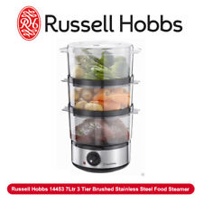 BD Russell Hobbs 14453 7Ltr 3 Tier Brushed Stainless Steel Food Steamer